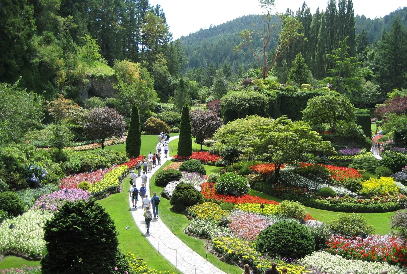 Jardines Butchart. Famoso jardin en Canada.