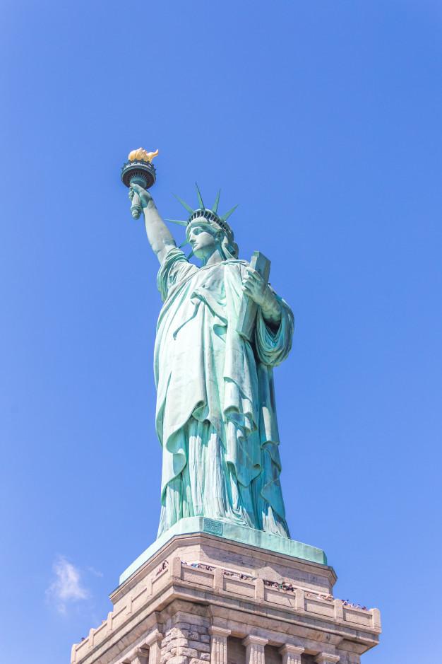 Echa un vistazo a la estatua de la libertad